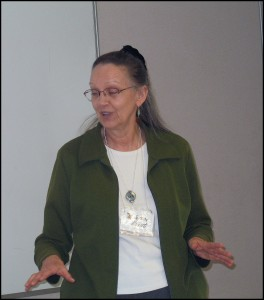 Guest and presenter Susan Horst