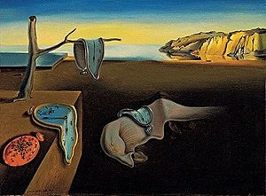 The Persistence of Memory, painting by Salvador Dali, 1931.  Museum of Modern Art