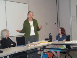 Florence, Susan and Kali speaking