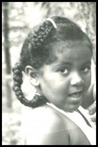 Kay as a little girl